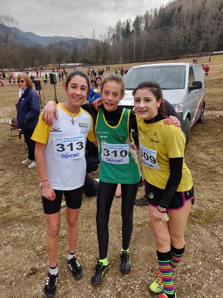 Valeria Minati, Noemi Delladio e Rebecca Bertolini, tutte protagoniste ai Regionali su pista