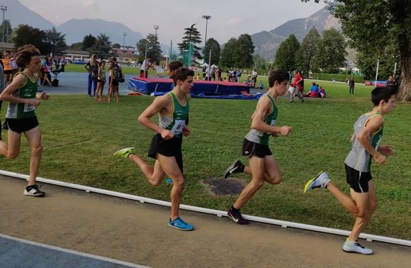 Passaggio della gara 2000m Cadetti, conduce F. Ropelato su S. Valduga, D. Barozzi e C. Ropelato