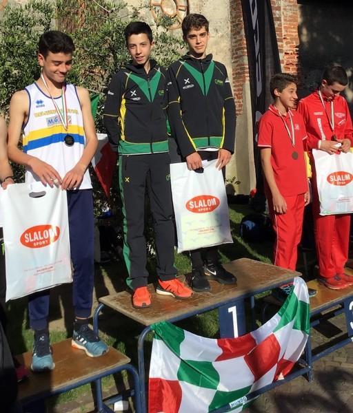 I campioni italiani di staffetta a due di corsa in montagna Francesco Ropelato e Simone Valduga