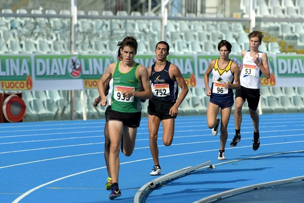 Simone Valduga al comando della prova dei 1000m