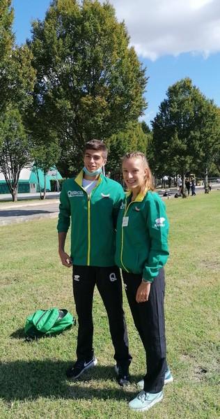 Samuele Delladio e Sofia Trettel al meeting di Chiari