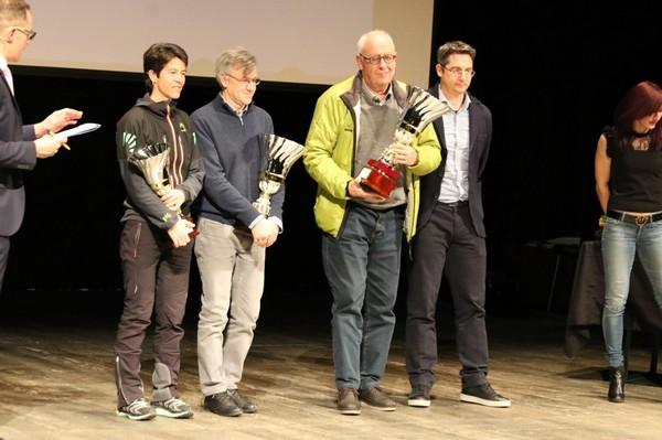 Il Presidente Carlo Giordani ritira il premio per la Societa' (foto Facchini)