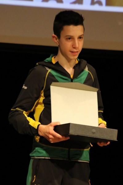 Francesco Ropelato, Atleta dell'anno Cadetti (foto Facchini)