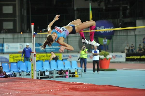 Kateryna Tabashnyk sigla il suo personale con 1.95 (foto M. Volcan)