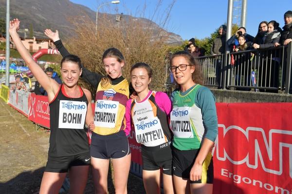 Le prine 4 atlete della gara femminile (foto M. Volcan)