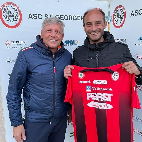 Il presidente pusterese Georg Brugger con Roberto Aquaro