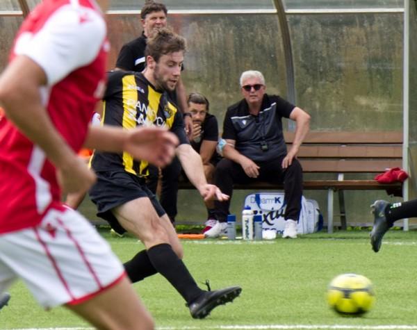 Marco Dalponte, protagonista della vittoria giallonera sulla Rotaliana