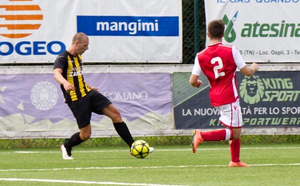 Christian Malfer con una bella rovesciata ha segnato il primo gol giallonero