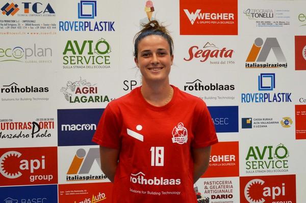La prima giornata di Elena Pierobon fra le mura dell'Arena Biancorossa