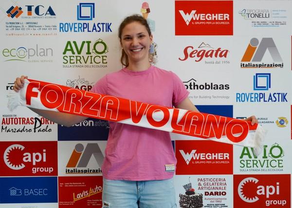 La laterale Katerina Pucnik nella sede di Volano Volley