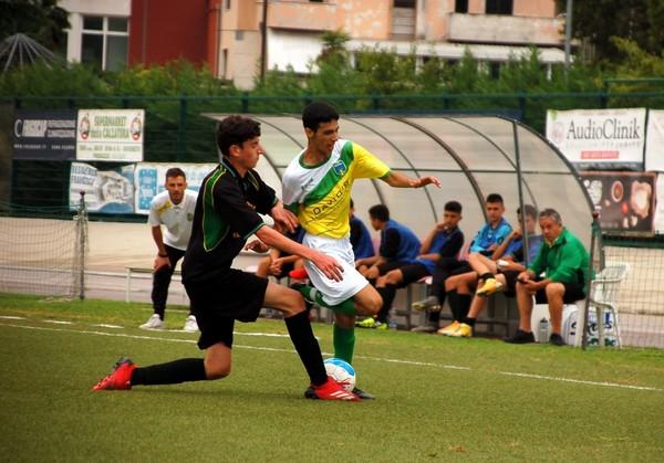 Un'istantanea del match della categoria Under 17 fra Mori S.Stefano e Virtus Rovere