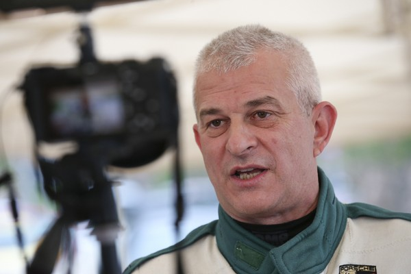 Il presidente pilota Giuseppe Ghezzi