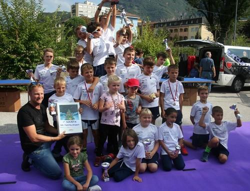 I Giovanissimi dell'Uc Valle di Cembra festeggiano a Bolzano