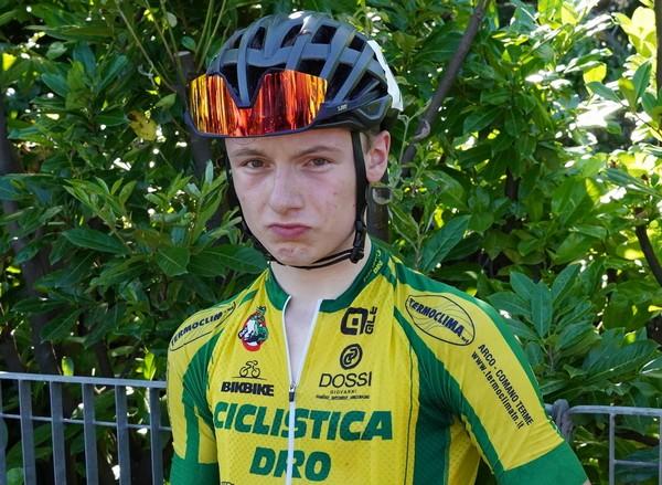 Il portacolori della Ciclistica Dro Marco Pezzani