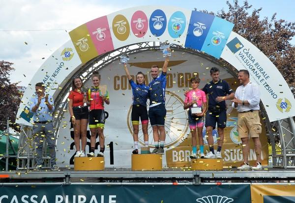 Il podio delle Esordienti Donne secondo anno