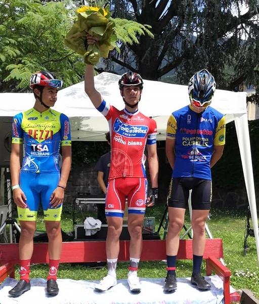 Il podio con Alessio Magagnotti al centro