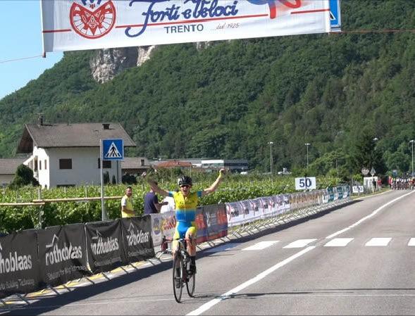 L'arrivo vittorioso di Guido Viero a Romagnano