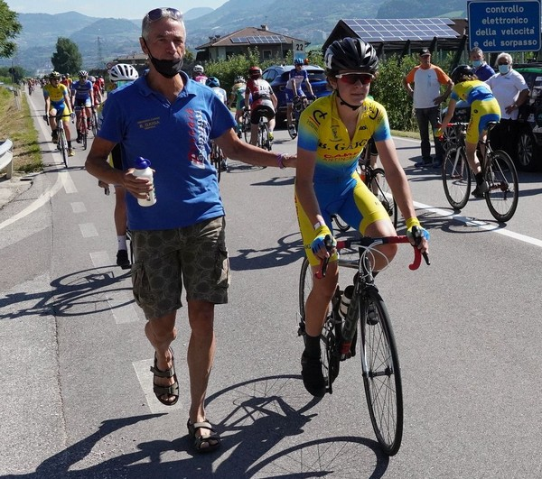 Guido Viero all'arrivo assieme al proprio direttore sportivo