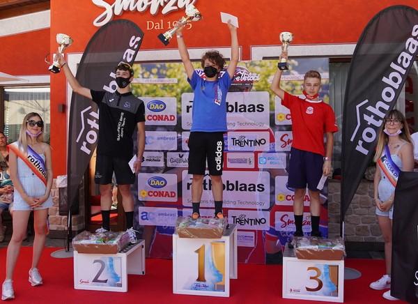 Il podio della corsa Esordienti primo anno