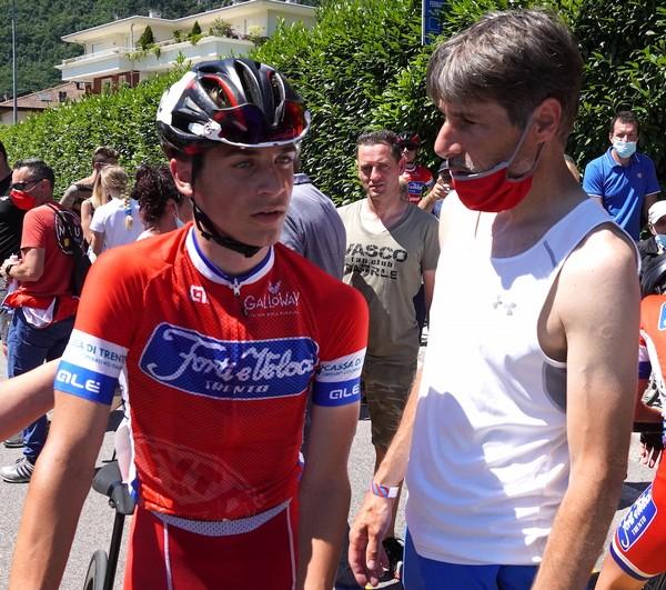 Magagnotti assieme al diretto sportivo Luca Prada