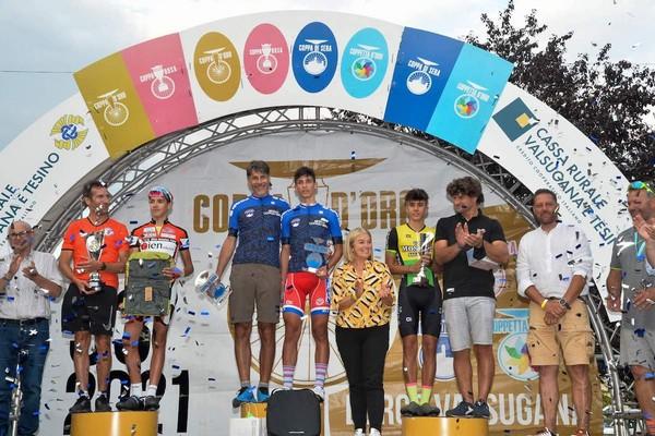 Il podio finale con Magagnotti e Prada al centro