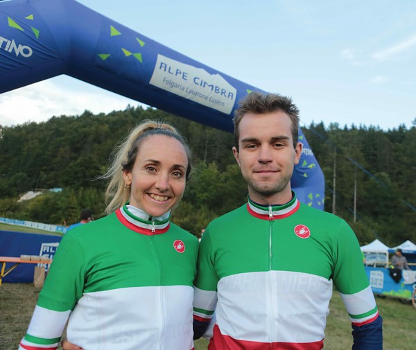 Eva Lechner e Huez in maglia tricolore (foto Newspower)