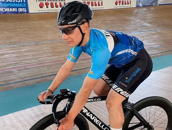 Lo junior Mattia Predomo, al primo anno in categoria