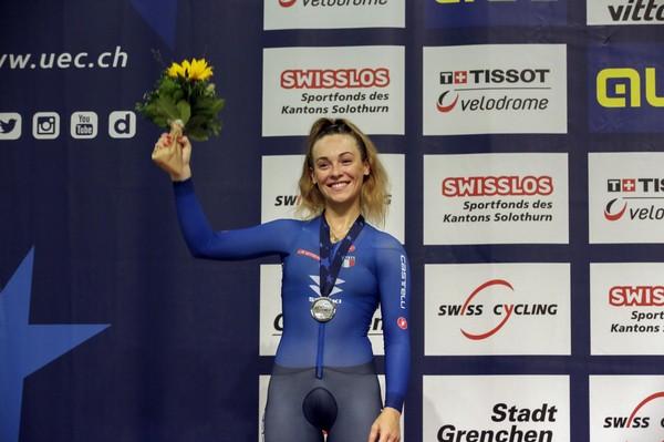 Letizia Paternoster con la medaglia d'argento (foto Bettini)