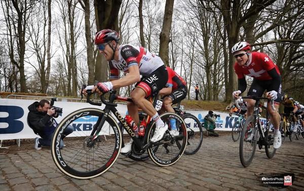 Matteo Trentin in azione alla Gand-Wevelgem