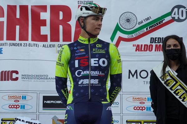 Il 19enne trentino Federico Iacomoni sul podio