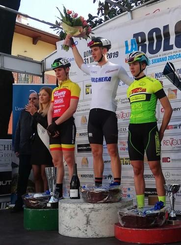 Il podio dell'edizione 2019, vinta da Andrea Dalvai
