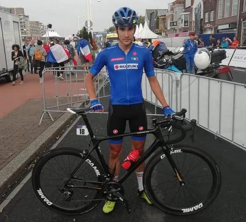 Edoardo Zambanini in maglia azzurra agli Europei di Alkmaar