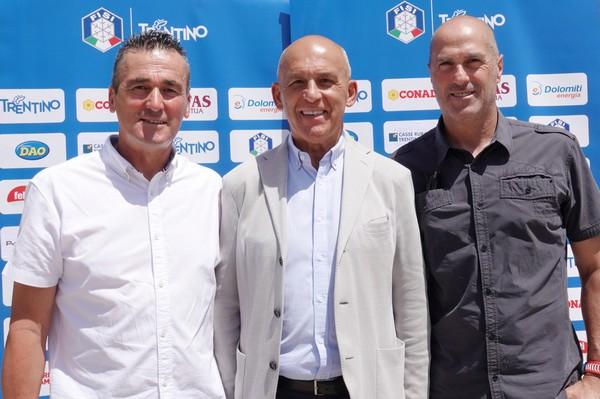 Tiziano Mellarini con Matteo Guadagnini e Giuseppe Chenetti
