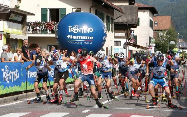 La partenza dell'ultima edizione in Val di Fiemme