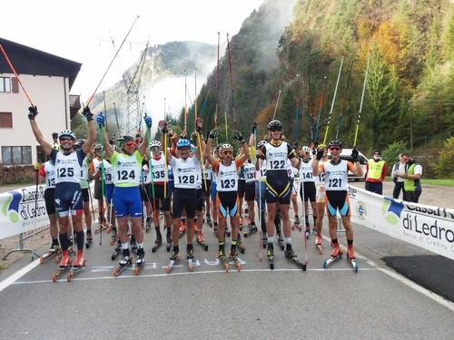 La partenza della gara senior giovani