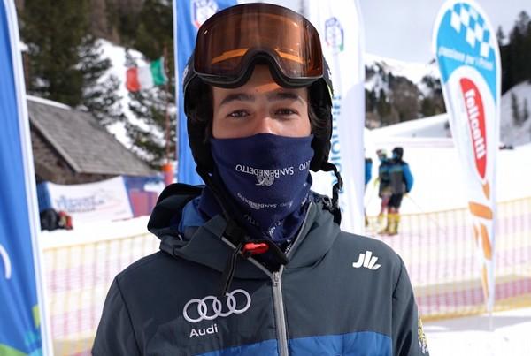 Federico Collini il giorno del titolo trentino di slalom under 16