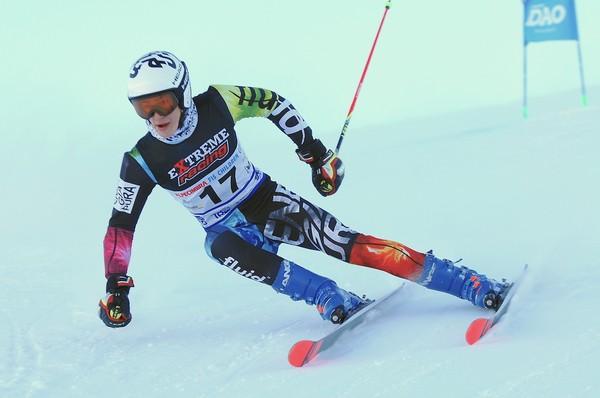 Federico Collini in gara alle Selezioni Alpe Cimbra Fis Children Cup