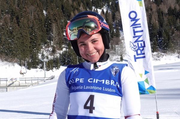 La vincitrice del gigante Lucia Pizzato