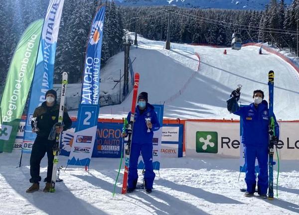 Giacomo Dalmasso sul podio di S. Caterina Valfurva