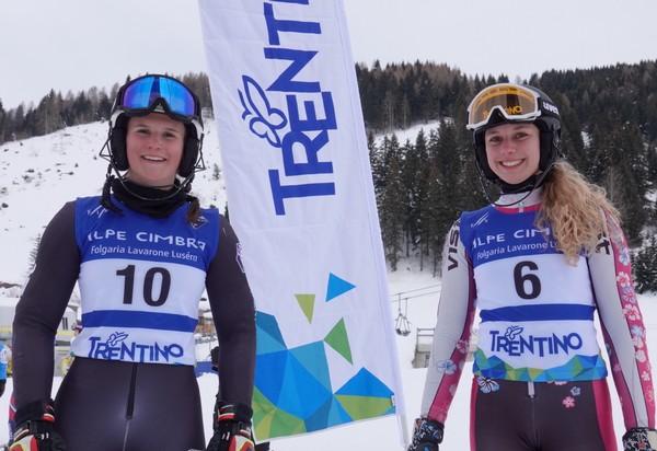 La vincitrice Giorgia Felicetti con la seconda classificata Camilla Vianello