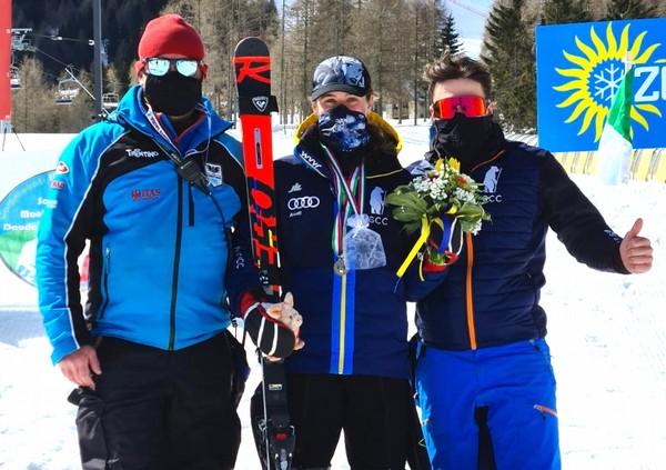 Rachele Guglielma Capretti con i tecnici Bertoldi e Pasini