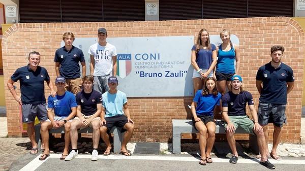 La squadra di Comitato al raduno di Formia