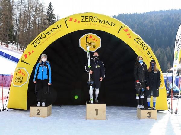 Il podio dei Campionati Trentini Giovani 2021 femminile