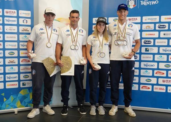 I medagliati Andrea Iori, Daniele Buio, Ambra Gasperi e Filippo Zamboni (foto Battisti)