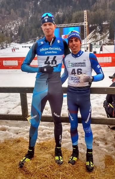 Alessandro Chiocchetti e Fabio Longo, bronzo nella team sprint