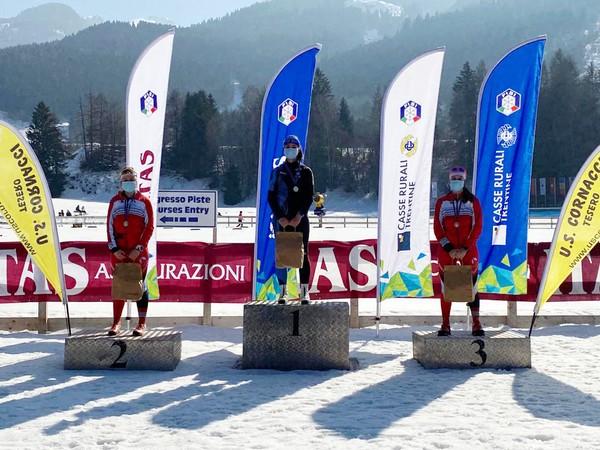 Podio Campionato Trentino under 20 femminile