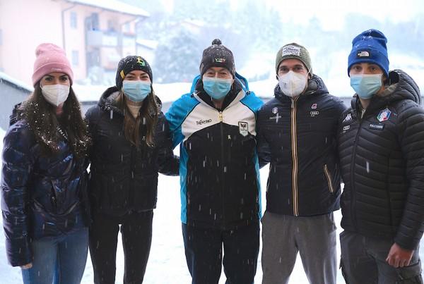 Il nostro Marco Zoller con i quattro trentini in gara al Tour de Ski