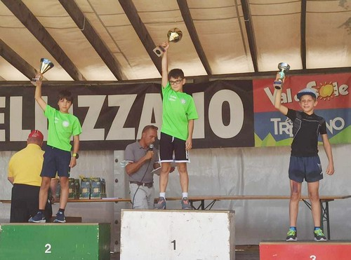 Il podio under 14 di salto speciale