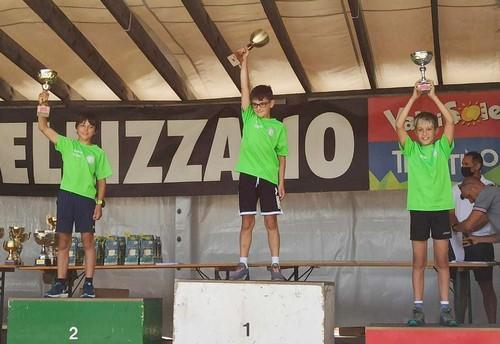 Il podio under 12 di salto speciale