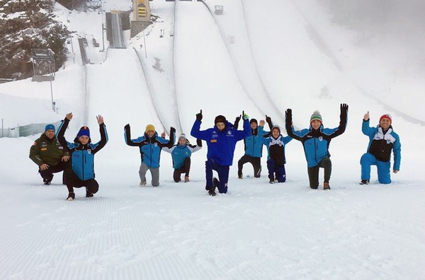 La squadra di salto e combinata del Comitato Trentino